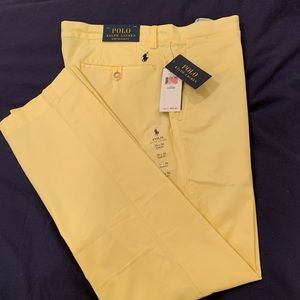 Polo Yellow Stretch Slim Fit Chinos